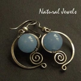 Elegant Blue Chalcedoney