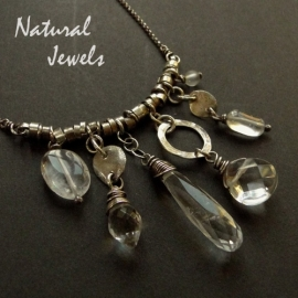 Necklace various Rockcrystal