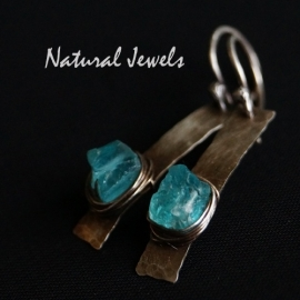 Earrings Raw Apatite