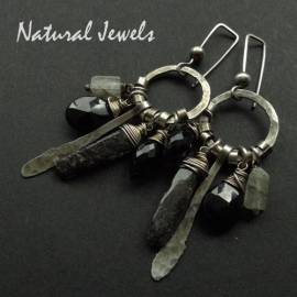 Long and Dark Earrings