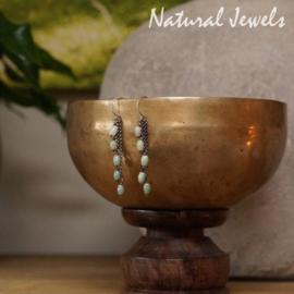Jade oorbellen van zilver