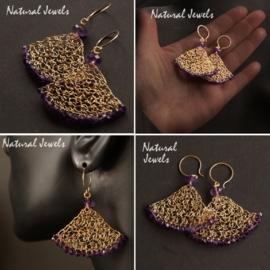 14K Goldfilled oorbellen met Ametist