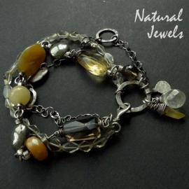armband Yellow Gemstones