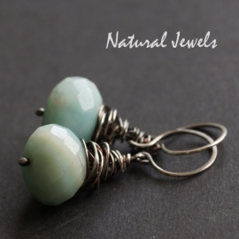 Ohrringe Amazonite in a cocoon