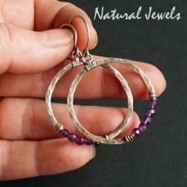 Zilveren oorbellen Balanced circles