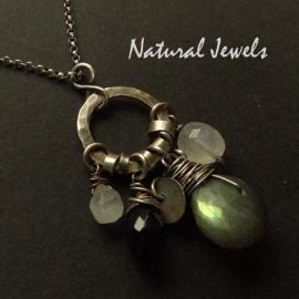 Necklace Labradorite Rondelle