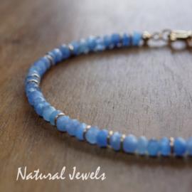 Blauwe Agaat armband