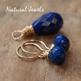 Gereserveerd - Lapis Lazuli Goldfilled setje