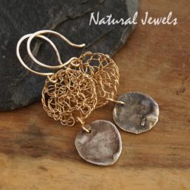 Goldfilled oorbellen Ancient Silver