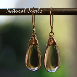 Gouden oorbellen Rookkwarts