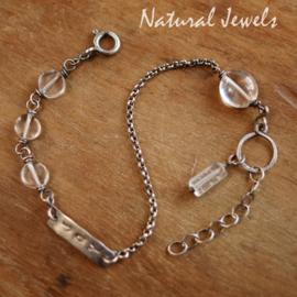 Bergkristal armbandje zilver