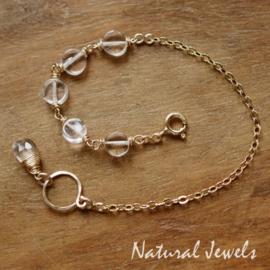 Bergkristal armbandje goud