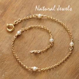 Gereserveerd - Gouden balletjes armbandje