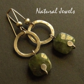 Earrings Earthy Jade
