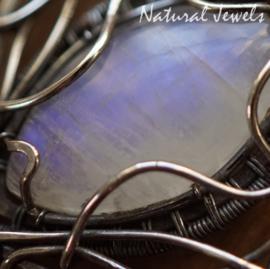 Maansteen hanger zilver