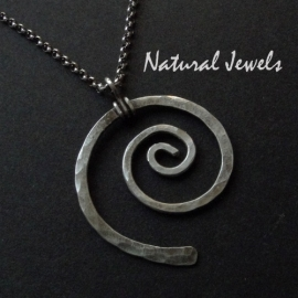 Necklace Silver Spiral