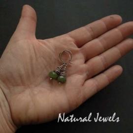 Jade in Silver Cocoon