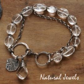 Zilveren armband Bergkristal