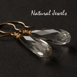 Goldfilled earrings Long Rockcrystal