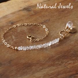 Bergkristal armband goud