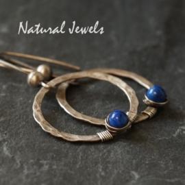 Robuuste oorbellen met Lapis Lazuli