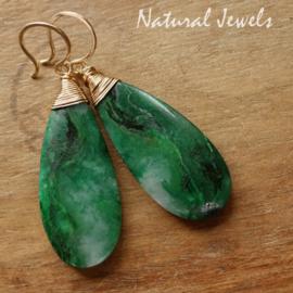 Groene Jade oorbellen