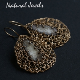 Silver and Goldfilled Earrings Fused Drops