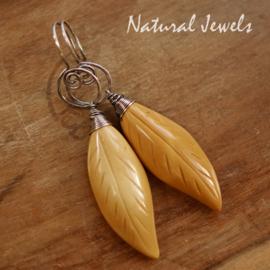 Gele edelsteen oorbellen