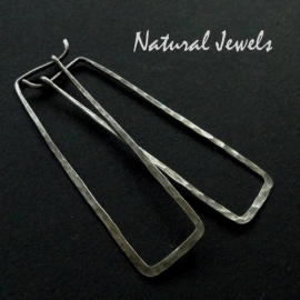 Earrings Silver Rectangles