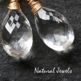 Gouden oorbellen AAA Bergkristal