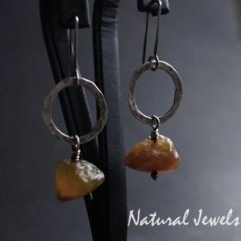 Earrings Yellow Agath