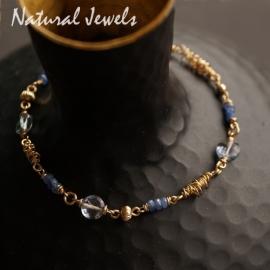 Gouden armband met saffiertjes