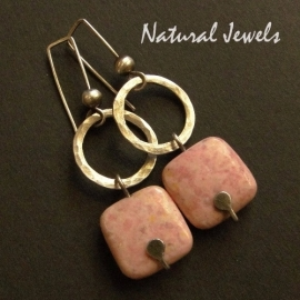 Earthy Earrings Rhodochrosite