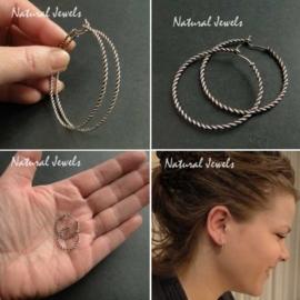 Earrings of Rope of Silver