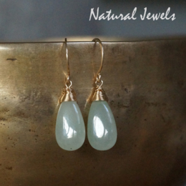 Jade oorbellen van goud