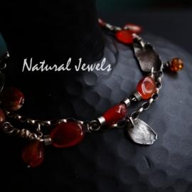 Armband Robuuste Oranje stenen