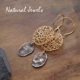 Gouden oorbellen Ancient silver