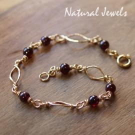 Gereserveerd - Rode Granaat armband