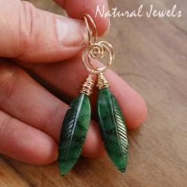 Jade oorbellen