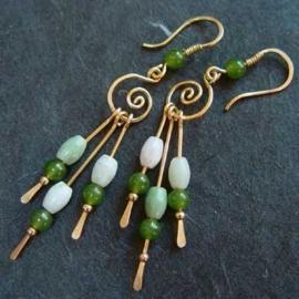 Golden Green Pins