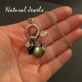 Necklace Labradorite Rondelle