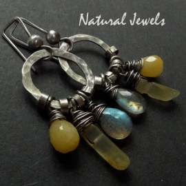Earrings Natural Yellow