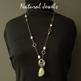 Boho Necklace Aquamarine - gereserveerd