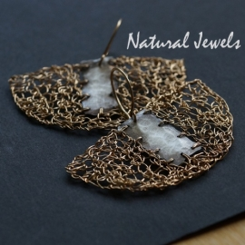 Silver and Goldfilled earrings Fused Freeform
