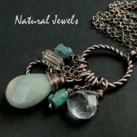 Amazonite Briolette on a Rope
