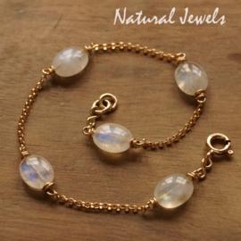 Gouden armbandje met Maansteen