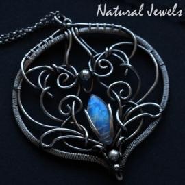 Zilveren halsketting Moonstone