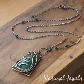Zilveren halsketting met Mtoroliet