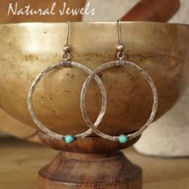 Turquoise zilveren oorbellen