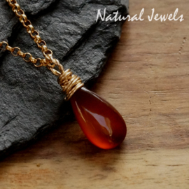 Goldfilled pendant orange-brown Chalcedoney